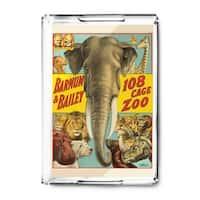 Barnum & Bailey - 108 Cage Zoo 1916 - Vintage Ad (Acrylic Serving Tray)