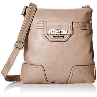 Rosetti Womens Show Time Faux Leather Lined Crossbody Handbag - Medium