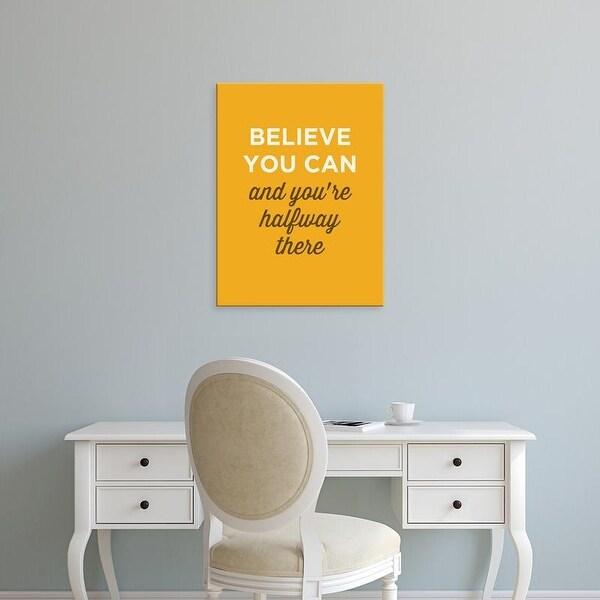 Easy Art Prints GraphINC's 'Believe You Can' Premium Canvas Art