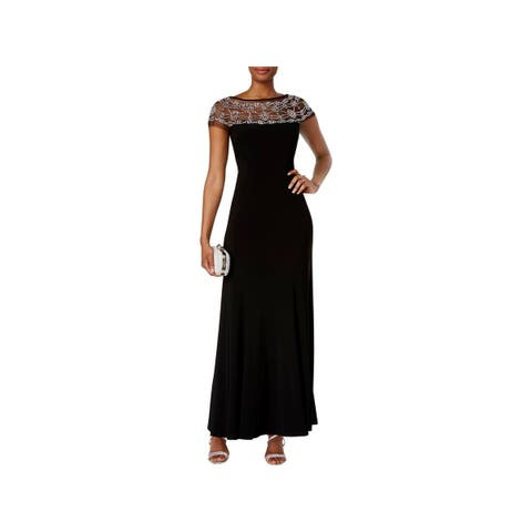 c17b2755b708 R M Richards Womens Evening Dress Beaded Black Tie