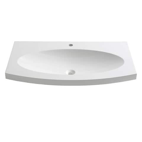 "Fresca Energia 36"" White Integrated Sink / Countertop"