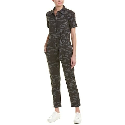 Monrow Belted Camo Jumpsuit