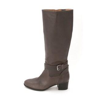 Nine West Women's Vani Leather Riding Boot