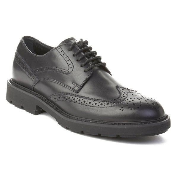 Tod's Men's Leather Brogue Oxford Shoes Black
