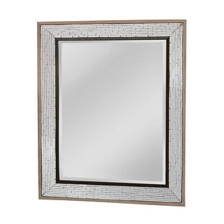 """Mirror Masters MG4510 Fredmont 40"""" Rectangular Mirror with Decorative Frame - Brown/Black - N/A"""