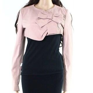 Valentino NEW Pink Womens Size 8 Bow-Detail Bolero Shrug Jacket