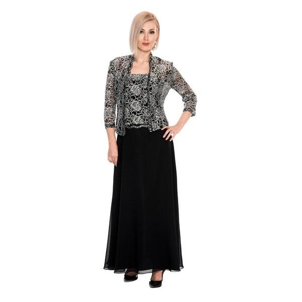 Shop Lace Chiffon Gown w. Jacket - Free Shipping Today - Overstock ... 2e99b165e304