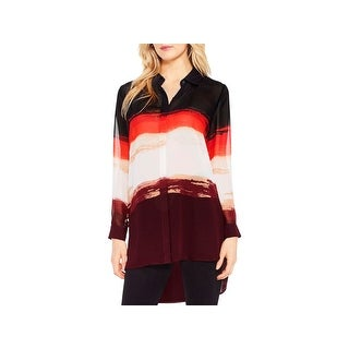 Vince Camuto Womens Blouse Printed 3/4 Sleeves