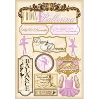 Cardstock Stickers-Prima Ballerina