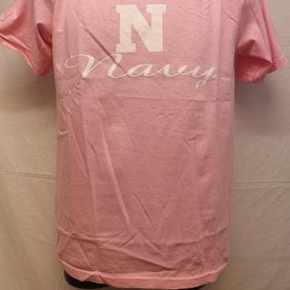 Navy Midshipmen Adult MENS Size S Small Pink Shirt