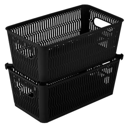 Simplify 2 Pack Slide 2 Stack It Small Storage Tote Baskets