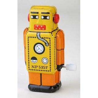 """Vintage Style 2.5"""" Tin Mini Robot Orange (Robot Lilliput) Yellow"""
