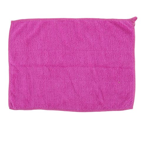Kitchen Microfiber Dinnerware Bowl Dust Cleaning Towel Cloth Washcloth Purple