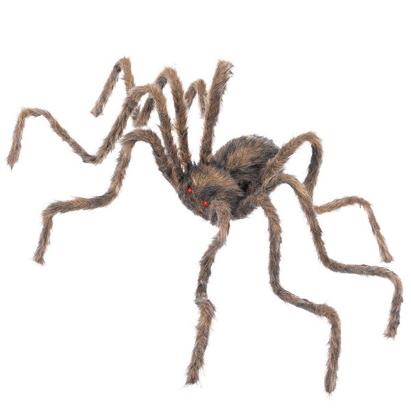 """Spider 20"""" Hairy Poseable Halloween Prop"""