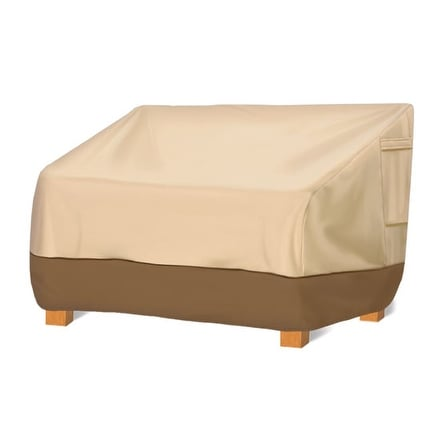 Armor Shield Patio Loveseat Cover Fits Loveseat Upto 76''L x 32.5''W x 33''H(Back)25''H(Front)