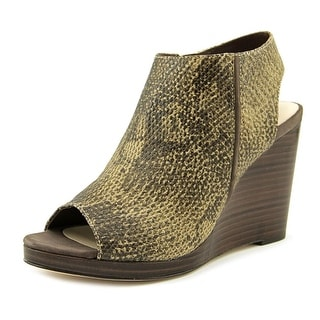 Cole Haan Ripley Wedge   Open Toe Leather  Wedge Sandal