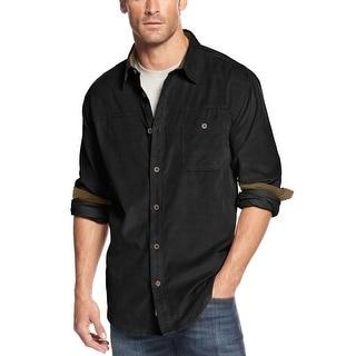 Weatherproof Vintage Long Sleeve Corduroy Shirt Black Small S