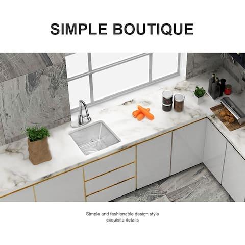 Undermount Deep Single Bowl 16 Gauge Stainless Steel Kitchen Sink