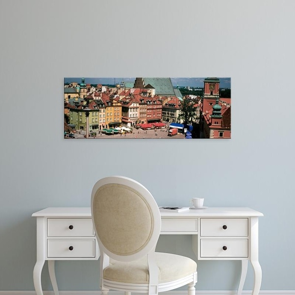 Easy Art Prints Panoramic Images's 'High angle view of a city, Warsaw, Poland' Premium Canvas Art