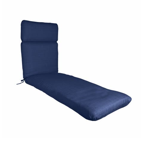"""Outdoor/ Indoor Chaise Lounge Chair Cushion for Patio Furniture, 22"""" x 76"""" x 3"""""""