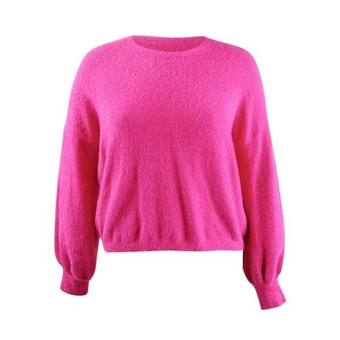 Rachel Rachel Roy Women's Fuzzy Cropped Sweater (XXL, Wild Pink)