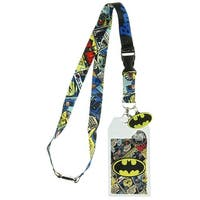 Batman Lanyard with ID Holder and Rubber Charm - One Size Fits Most