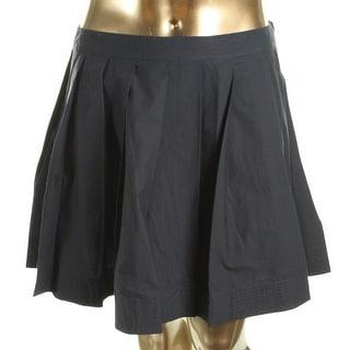 MICHAEL Michael Kors Womens Pleated Skirt Woven Above Knee