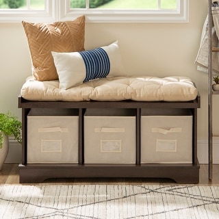 Link to The Gray Barn Paradise Hill Espresso Storage Bench with Cushion Similar Items in Living Room Furniture
