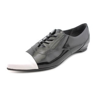 Stuart Weitzman Devon Men Cap Toe Patent Leather Oxford