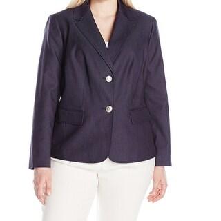 Nine West NEW Blue Women's Size 18W Plus Two Button Denim Blazer
