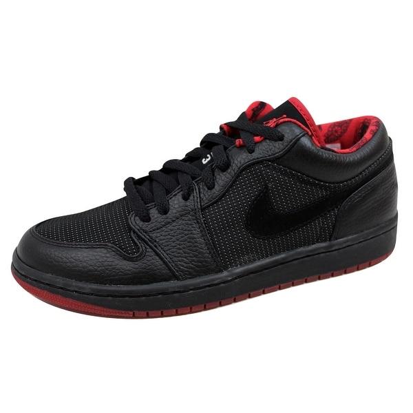 Nike Men's Air Jordan I 1 Retro Low Black/Metallic Silver-Varsity Red 309192-001
