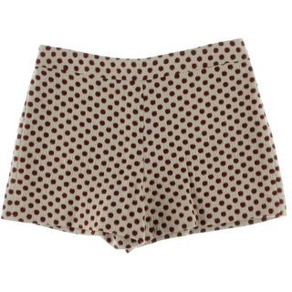 Alice + Olivia Womens Polka Dot Metallic Casual Shorts