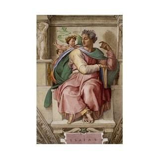 Easy Art Prints Michelangelo's 'The prophet Isaiah, Sistine Chapel' Premium Canvas Art