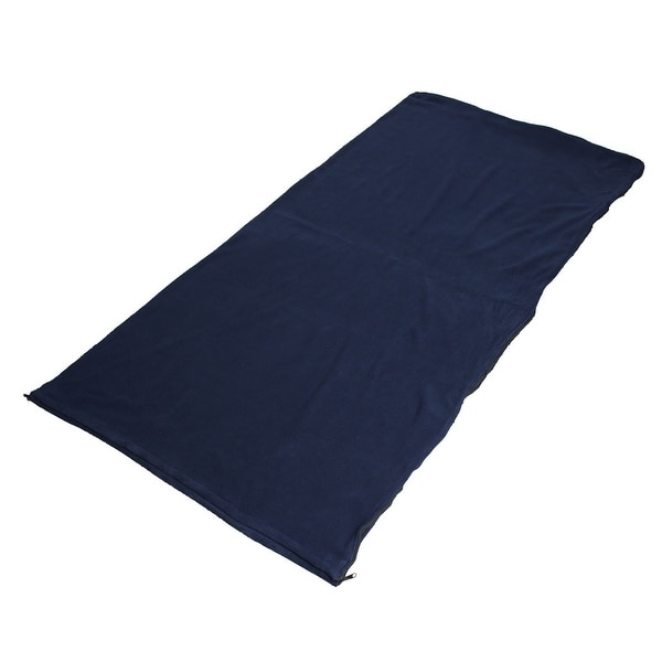 Outdoor Climbing Activities Foldable Zipper Closure Sleeping Bag Navy Blue