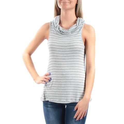 ULTRA FLIRT Womens Gray Sleeveless Cowl Neck Top Size: M