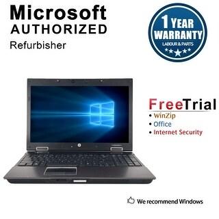 "Refurbished HP EliteBook 8540W 15.6"" Laptop Intel Core i7-620M 2.66G 4G DDR3 500G DVDRW Win 10 Pro 1 Year Warranty - Silver"