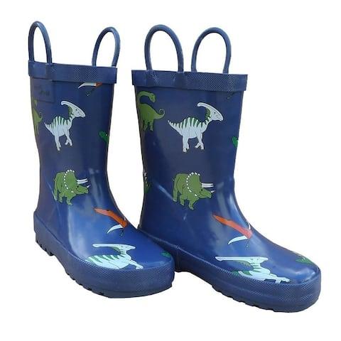 Blue Dinosaurs Boys Rain Boots 11-3