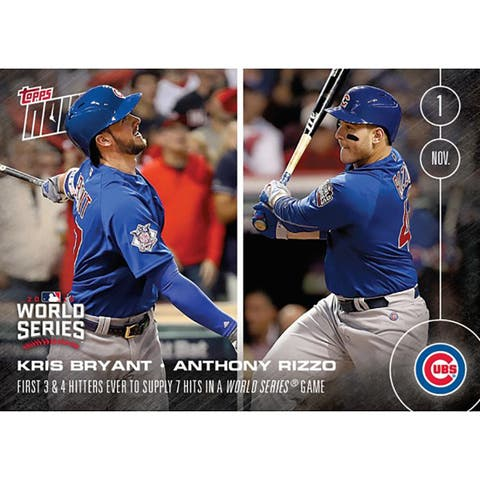 MLB Chicago Cubs Kris Bryant/ Anthony Rizzo #655 2016 Topps NOW Trading Card - multi