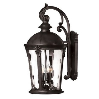 """Hinkley Lighting 1899BK 25.75"""" Height 4 Light Lantern Outdoor Wall Sconce in Black from the Windsor Collection"""