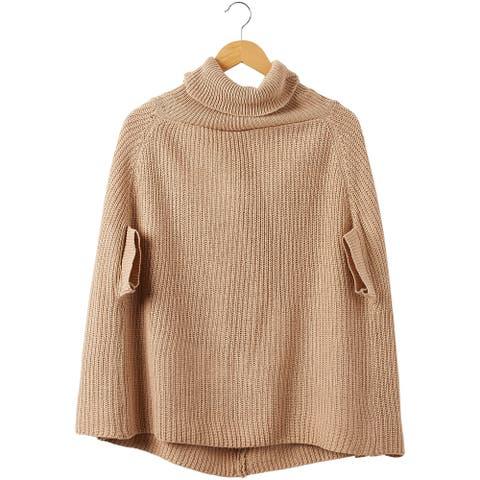 5.5' Khaki Brown Victoria Knit Poncho