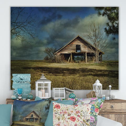 Porch & Den 'Storm Barn II' Farmhouse Premium Canvas Wall Art