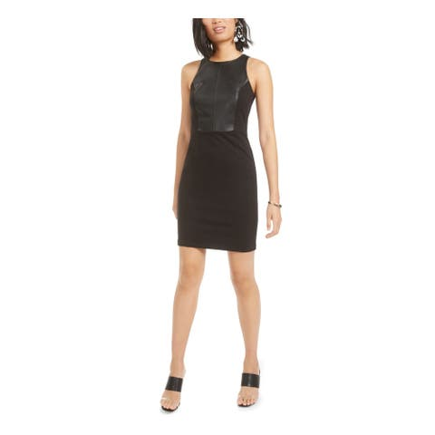 BAR III Womens Black Sleeveless Mini Body Con Cocktail Dress Size M
