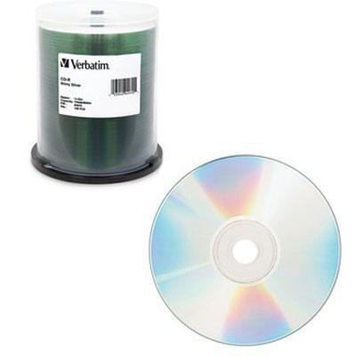 Verbatim 700Mb 80Min 52X Shiny Silver Cd-R,100-Disc Spindle 94970