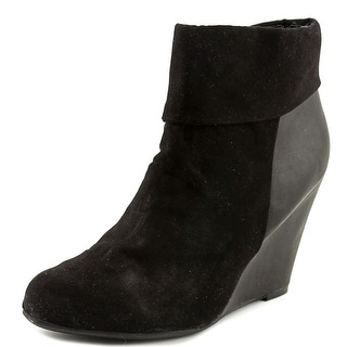 Report Riko Women Round Toe Synthetic Black Ankle Boot