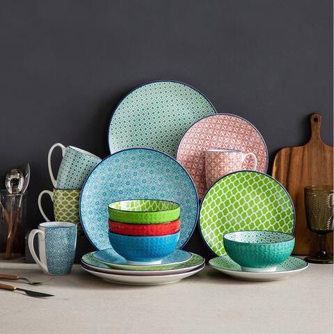 vancasso Macaron, 16-Piece Multi Color Dinnerware Set