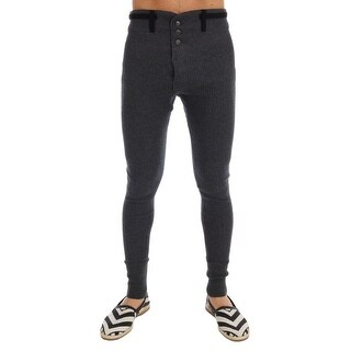 Dolce & Gabbana Gray 100% Cashmere Winter Underwear Pants
