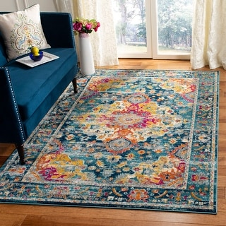 Link to Safavieh Madison Kiera Vintage Boho Oriental Medallion Rug Similar Items in Rugs