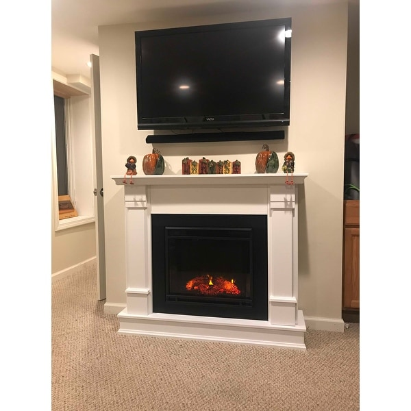 shop silverton electric fireplace white by real flame free rh overstock com silverton electric fireplace in white wayfair silverton electric fireplace