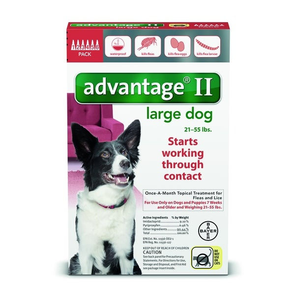 Advantage II for Dogs 21-55 Lbs. 6 Pack