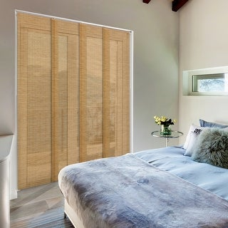 """Link to GoDear Design Natural Woven Adjustable Sliding Panel, Semi-Privacy, 45.8""""- 86"""" W x 96"""" L Similar Items in Window Treatments"""
